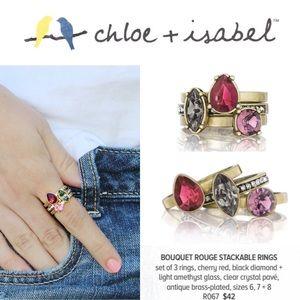 3️⃣Set! 🆕 Bouquet Rouge Stackable Rings R067-8
